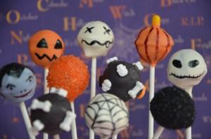 Cake pop d'Halloween
