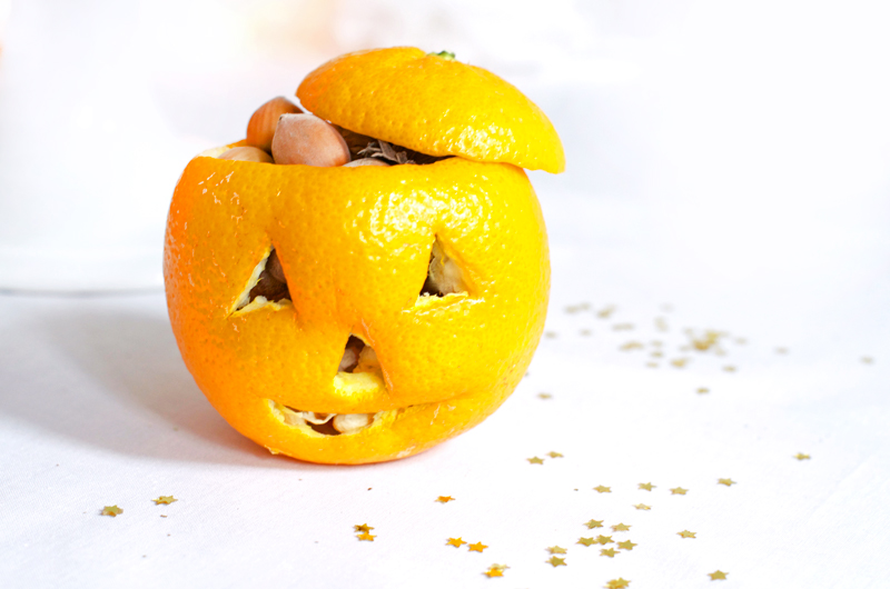 Mandarine d'Halloween