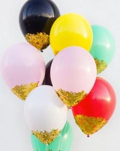 Ballons pailletés