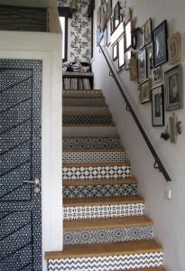 Escalier noir et blanc